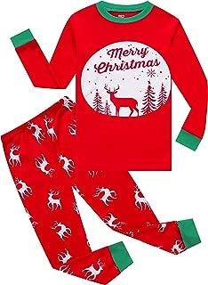 KikizYe Little Big Boys Long Sleeve Pajama Sets 100% Cotton Pjs