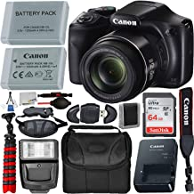 """$279 » Canon PowerShot SX540 HS Digital Camera (1067C001) with Deluxe Accessory Bundle - Includes: 1x Seller Replacement Battery, SanDisk Ultra 64GB Memory Card, Digital Slave Flash, 12"""" Gripster & More"""