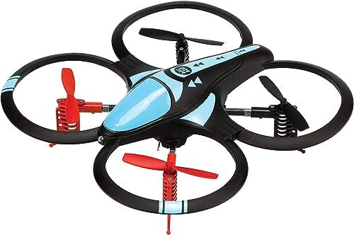 Arcade Nano 450 mAh Quadcopter Quadrocopter Drohne mit Gyro-Stabilisatoren, Flipfunktion, Steuerung für Größe ReichWeißen Inkl. Ersatzpropeller - Schwarz