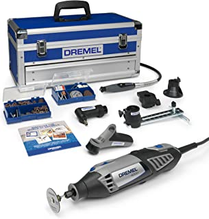 Best Dremel Platinum Edition 4000 Rotary Tool 175 W, Rotary Multi Tool Kit with 6 Attachments 128 Accessories, Variable Speed 5000-35000 rpm for Cutting, Sanding, Drilling, Cleaning, Routing, Grinding Review
