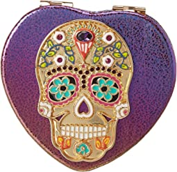 Sugar Skull Heart Compact in a Betsey Johnson Pouch