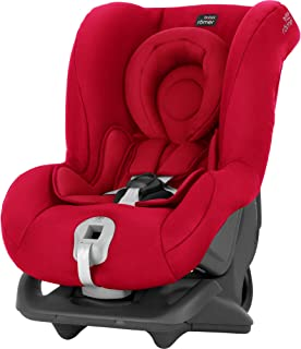 Britax Römer Reboarder Kindersitz 0 - 4 Jahre | 0 - 18 kg | First Class Plus Autositz Gruppe 0/1 | Fire Red