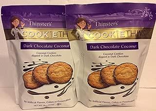 Mrs. Thinsters (2 PACK) DARK CHOCOLATE COCONUT Cookie Thins 18 oz Each Bag