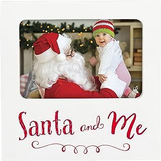 Tiny Ideas Holiday Santa and Me Keepsake Photo Frame, Perfect Christmas Seasonal Decor