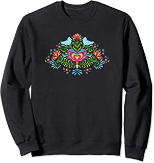 Scandinavian Norwegian Rosemaling Norway Women Sweatshirt