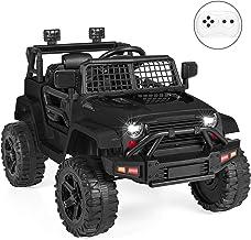 Best Choice Products 12V Kids Ride On Truck Car w/Parent Remote Control, Spring Suspension, LED Lights - Black