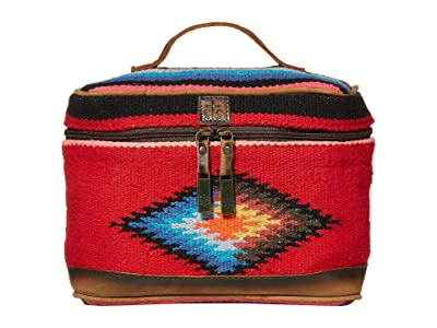 STS Ranchwear Fiesta Serape Train Case (Royal Blue/Black/Red) Bags