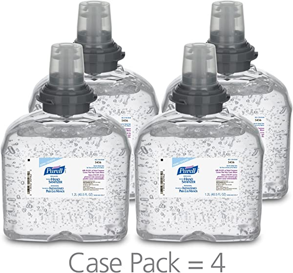 PURELL Advanced Hand Sanitizer Gel 1200 ML Sanitizer Refill For PURELL TFX Touch Free Dispenser Pack Of 4 5456 04