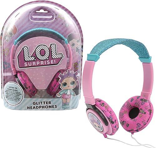 L.O.L. Surprise, Casque Audio à PaIllettes, pour écouter de la Musique, 180 cm de FIl, Volume Réglable, Prise Jack, J...