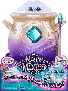 Magic Mixies 14652 Magische ketel met mist en blauw pluche, 20 cm, meerkleurig