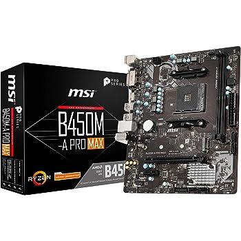 MSI B450M-A PRO MAX M-ATX マザーボード [AMD B450チップセット搭載] MB4827