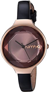 RumbaTime Women's 'Orchard Gem Patent Leather Collection' Japanese-Quartz Metal and Leather Casual Watch