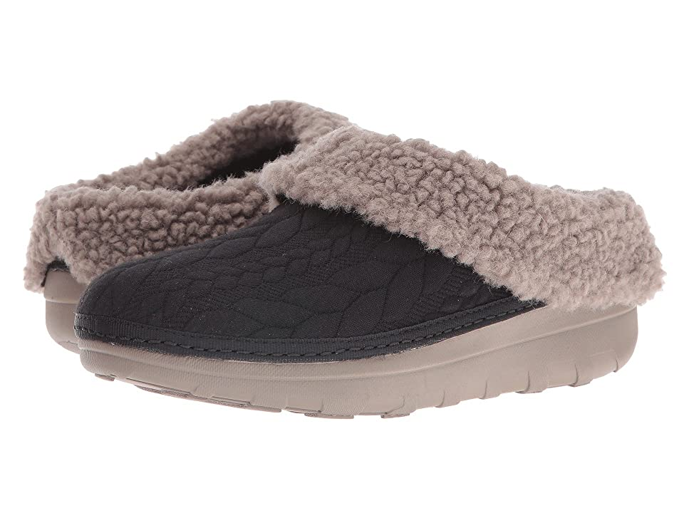 FitFlop Loaff Quilted Slipper (Black) Women