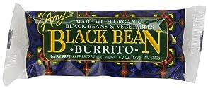 Amy's Burrito, Black Bean & Vegetable, 6 Ounce (Frozen)