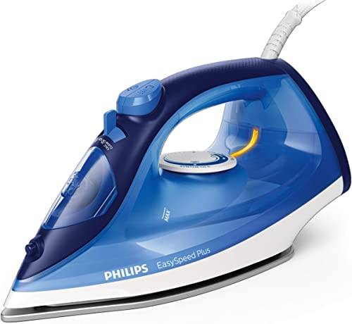 Philips EasySpeed Plus Steam Iron with Ceramic Soleplate, 150g Steam Boost and Built-In Calc-Clean Slider, 2400W, Blu...