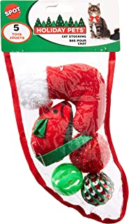 SPOT Holiday Cat Toy Stocking 5pc-Small