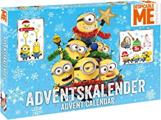 CRAZE 57422 Advent Calendar, Minions, Multi Color