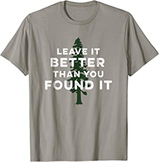 Leave It Better Than You Found It   Retro USA Camping TShirt