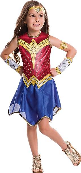 Wonder Woman bambini Costume Ragazza supereroe film 80s Costume Outfit Età 3-7