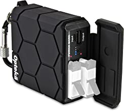 Opteka Rugged 6000mAh Power Bank for GoPro Hero4 with Dual AHDBT-401 Battery Charger and USB 5V-2.1A for Smart Phones, Tablets and Action Cameras