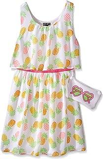 Girls South Beach Sunshine Chiffon Dress with Bag