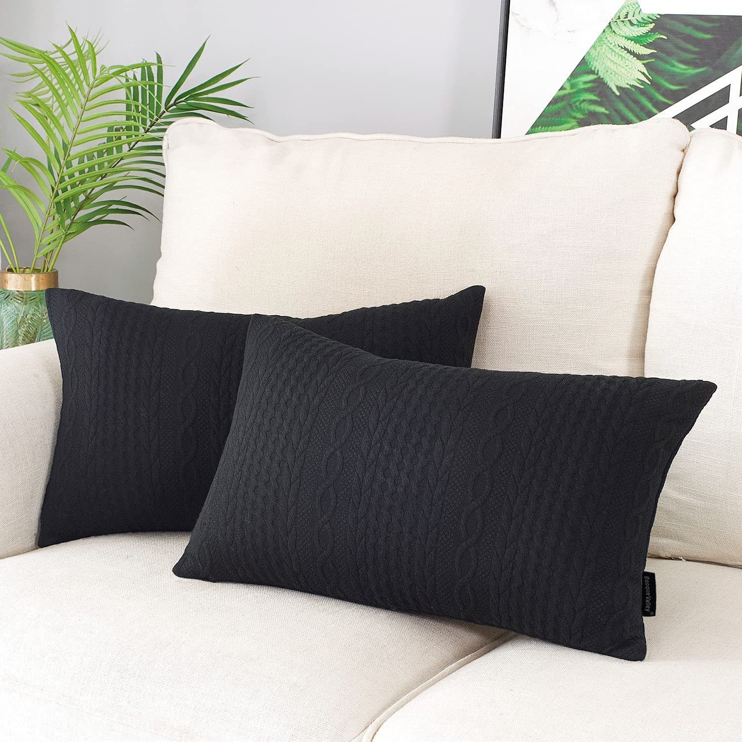 Booque Valley Ranking TOP12 Rectangular Throw Pillow Covers of 2 S Pack sold out Super