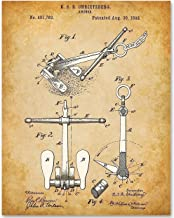 Ship Anchor - 11x14 Unframed Patent Print - Makes a Great Gift Under $15 for Sailors and Beach House Decor