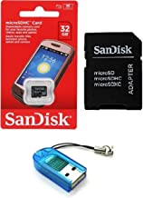 Sandisk 32GB Class 4 MicroSDHC MicroSD C4 TF Flash Memory Card with SD Adapter and USB SD Card Reader/Writer #R13 (Bulk Pa...