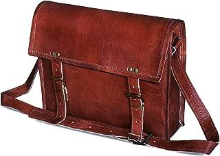 """13"""" genuine Leather Messenger Bag Laptop Briefcase Satchel Mens shoulder Bag"""
