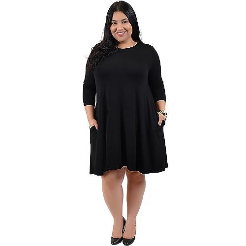 Plus Size Black Tunic Dress: Amazon.com