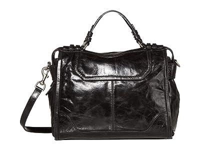 Frye Mel Satchel (Black) Handbags