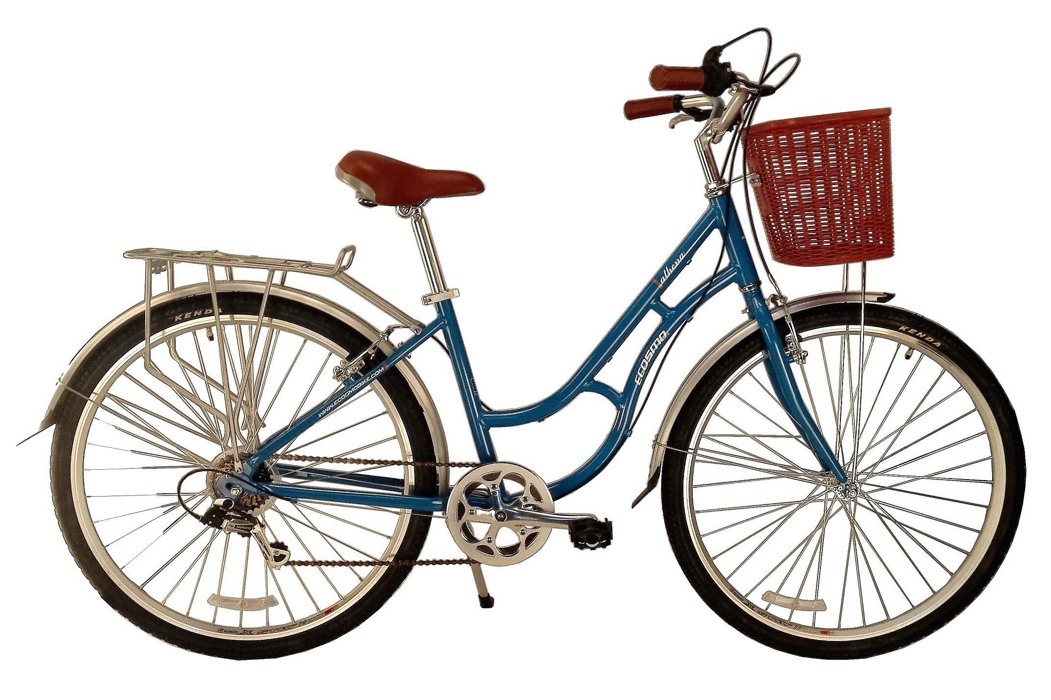 Bicicleta urbana de aleación Ecosmo, para mujer, 700C, 7 SP ...