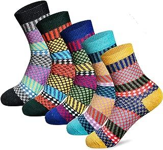Women's Winter Socks 5 Pairs Thick Wool Soft Warm Casual...