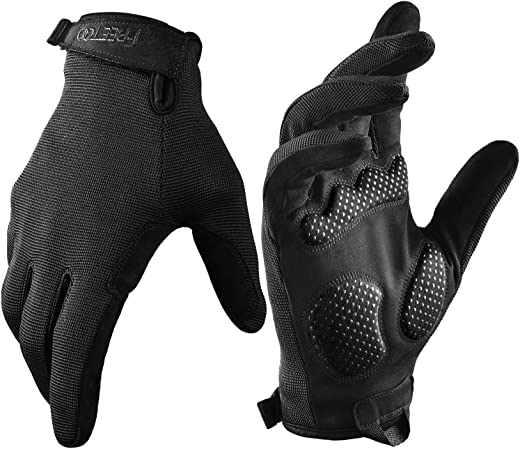 FREETOO Full Finger Workout Gloves for Men, [Extra Grip] [Foam Padded] Weightlifting Gym Gloves Breathable Exercise Sports Gloves Lightweight (Male)