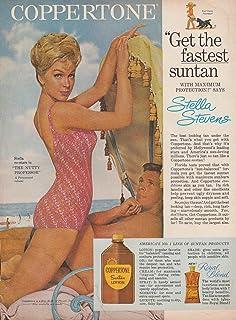 Get the fastest tan - Stella Stevens for Coppertone Suntan Lotion ad 1963 GH