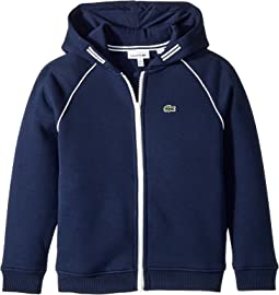 Lacoste Kids - Long Sleeve Fleece Piping Sweatshirt (Toddler/Little Kids/Big Kids)