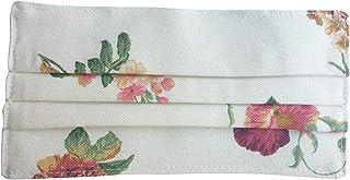 Pack 2 blanca con flores mujer de tela hechas en España