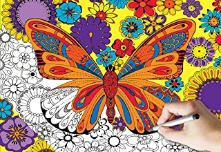 White Mountain Puzzles June Butterfly Coloring Puzzle - 300 Piece Jigsaw Puzzle