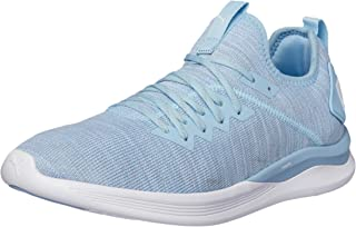 PUMA Women's Ignite Flash Evoknit WN's Ceru Shoes, Cerulean-Quarry White