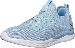 PUMA Women's Ignite Flash Evoknit WN's Ceru Shoes, Cerulean-Quarry White