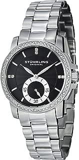 Stuhrling Original Women's 412.12111 Symphony Regent Duchess Quartz Swarovski Crystal Black Dial Watch