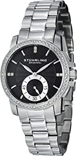 Stuhrling Original Women's 412.12111 Symphony Regent Duchess Quartz Swarovski Crystal Black Dial Watch