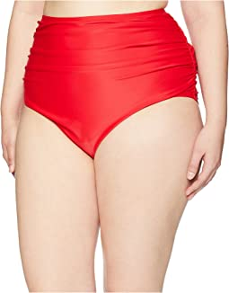 Plus Size Ruched Georgiana High-Waist Bottom