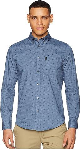 Ben Sherman Long Sleeve Polka Dot Print Shirt