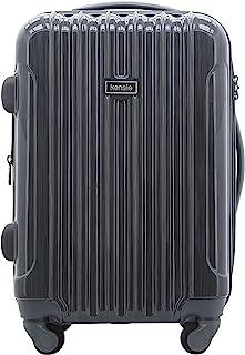 kensie Women's Alma Hardside Spinner Luggage, Gun Metal, Carry-On 20-Inch