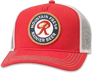 American Needle Valin Rainier Beer Mountain Fresh Trucker Hat (PBC-1908B-IRED)