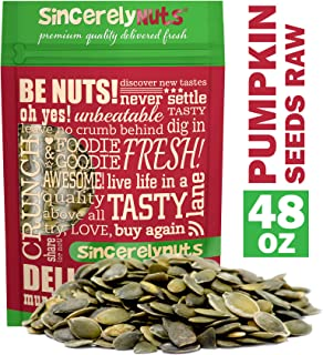 Sincerely Nuts - Raw Shelled Pepitas Pumpkin Seeds (Unsalted) (3lb bag) | All Natural Snack Food for Eating or Cooking | V...