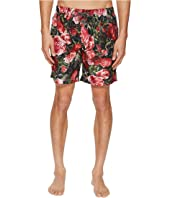 Dolce & Gabbana - Mid Length Roseto Swimsuit Boxer w/ Bag