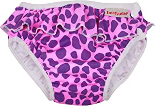 Imse Vimse Swim Diaper (20-26 pounds - Large, Pink Leopard with Frill)