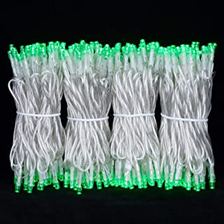 100 Feet 300 Green LED String Lights, Adapter with Functions Controller Constant Lighting & Flashing Mode, Wide Angle LED String Lights for Wedding Party Bedroom Patio Garden Christmas(Green)